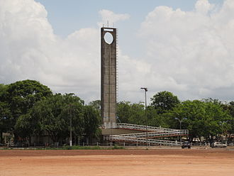 Equator - The Marco Zero monument marking the Equator in Macapá, Brazil.
