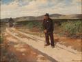 Erik Henningsen - Landskab med en mand og en kone på en grusvej - 1903.png