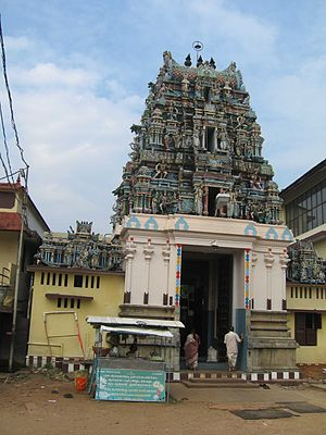 Ernakulam Shiva Temple - The Murugan temple is built in Tamil style
