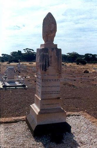 Ernest Giles - Giles' grave at Coolgardie, Western Australia