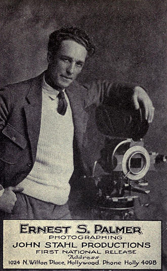 Ernest Palmer (American cinematographer) - Possible picture of Ernest Palmer, taken around 1921, although the middle initial is wrong
