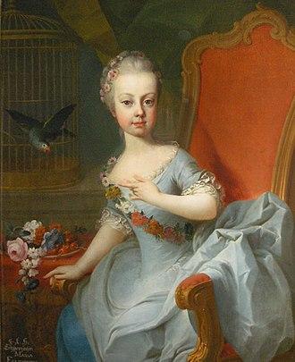 Archduchess Maria Elisabeth of Austria (1743–1808) - Maria Elisabeth in her childhood