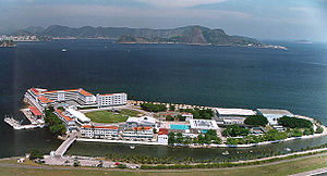 Villegagnon Island - Villegagnon Island today, where the Brazilian Naval School is built.
