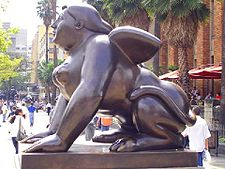 A contemporary sphinx by Botero, in Medellín, Colombia