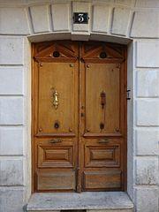 España, Aranda de Duero, Hand Carved Wooden Door, pic bbb4.jpg