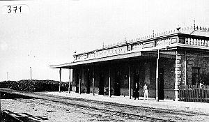Central Chubut Railway - Puerto Madryn terminus, c. 1930.