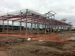 Speke - Estuary Commerce Park under construction in June 2012
