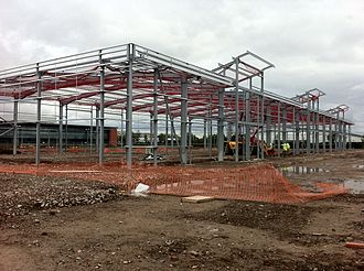 Speke - Estuary Commerce Park under construction in June 2012
