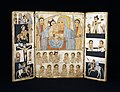 Ethiopian - Triptych with Mary and Her Son, Archangels, Scenes from Life of Christ and Saints - Walters 366 - Open.jpg