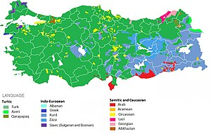 Demographics of Turkey - Ethnolinguistic map (estimates)