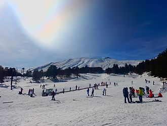 Ski resort - Ski resorts can also be situated on a volcano like this one on Etna in Sicily