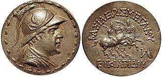 Eucratides I - Image: Eucratides tetradrachm