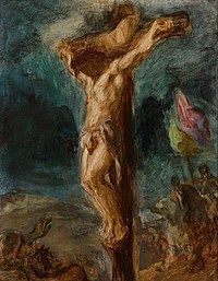 Eugène Delacroix Christ on the Cross (sketch) 1845.jpg