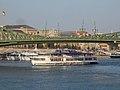 Europa (ship) under Liberty Bridge, 2017 Budapest.jpg