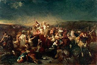 Déroute des Germains après la bataille de Tolbiac