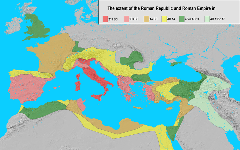 File:Extent of the Roman Republic and the Roman Empire between 218 BC and 117 AD.png