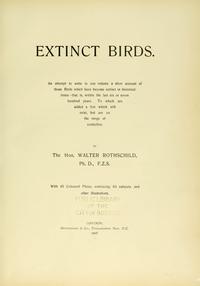 Extinct Birds cover
