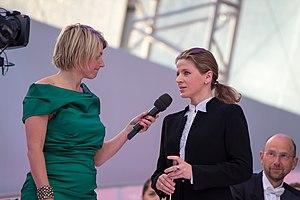 Kristiina Poska - Sabine Heinrich and Kristiina Poska at the Eurovision Young Musicians final rehearsal, 2014