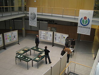 "German Wikipedia - The Exhibition ""Five Years of Wikipedia"" at the Göttingen University library, March 2006"