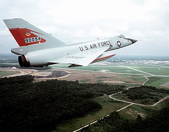 Convair F-106 Delta Dart - An F-106A of the 87th FIS above Charleston AFB, SC in 1982.