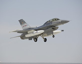 Airborne collision avoidance system - The U.S. Air Force's F-16D Ground Collision Avoidance Technology (GCAT) aircraft.