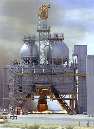 Rocketdyne F-1 - Test firing of an F-1 engine at Edwards Air Force Base