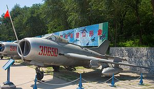 Mikoyan-Gurevich MiG-19 - A J-6 fighter on display at the China Aviation Museum