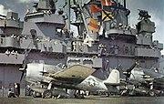 F6F-3 Hellcats aboard USS Yorktown (CV-10), 31 August 1943 (80-G-K-14833)