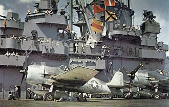USS Yorktown (CV-10) - Yorktown during the air operations in the Pacific
