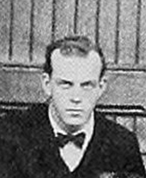 Fred W. Murphy - Murphy pictured in the 1899 Massachusetts Agricultural football team photo