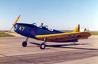Fairchild PT-19 American monoplane primary trainer aircraft in service during WWII