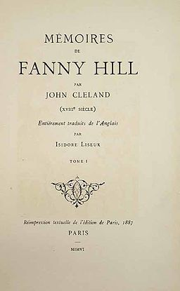 256px-Fanny_Hill_1906_image01 People in Fiction: Fanny Hill