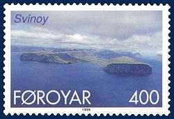 Stamp FR 350 of Postverk Føroya (issued: 25 May 1999; photo: Per á Hædd)