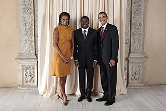 Faure Gnassingbé - Michelle Obama, Faure Gnassingbé and Barack Obama, 23 September 2009