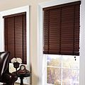 Faux Wood Blinds In Use.