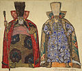 Fedor Fedorovsky, Costume design for two outfits of Prince Khovansky in the opera Khovanschina, 1912.jpg