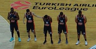 Valencia Basket - Valencia Basket 2017-18 Euroleague season roster in pre-match