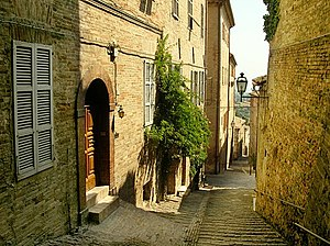 Teodorico Pedrini -  A view of the ancient city of Fermo (Italy)
