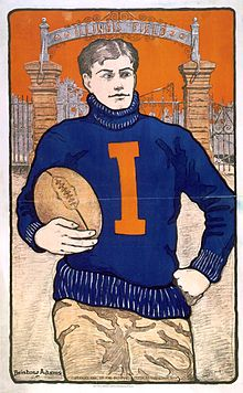 Fighting Illini football player, 1902.JPG