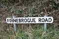 Finnebrogue Road sign, Downpatrick, April 2010.JPG