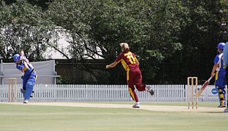 ACT Meteors - The ACT Meteors batting against the Queensland Fire at Allan Border Field in Brisbane.