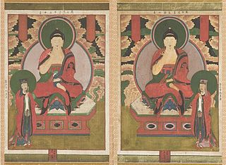 First and Second of the Buddhas of the Seven Stars of the Big Dipper (Chilseong Yeorae): Uneui Tongjeung Yeorae with Tamlang Seongun