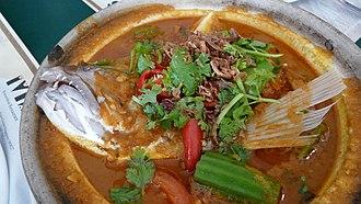 Peranakan cuisine - Fish head curry