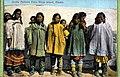 Five Eskimo women posing with children, King Island, Alaska, 1909 (AL+CA 1297).jpg