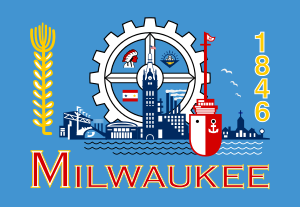 English: Flag of Milwaukee, Wisconsin