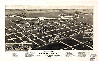 Flandreau, South Dakota - 1883 illustration of Flandreau