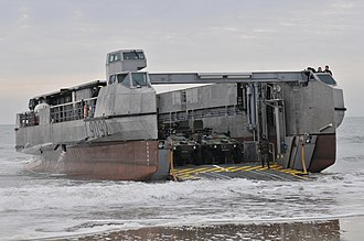 French Navy - EDA-R landing craft on the beach