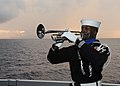 Flickr - Official U.S. Navy Imagery - Sailor plays the trumpet during a burial at sea ceremony aboard USS Enterprise.jpg