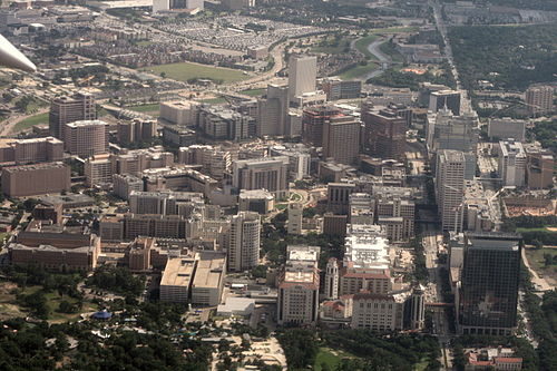 Aerial picture of Texas Medical Center in Houston. - Texas