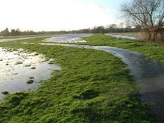 Water-meadow - Image: Flooded water meadow